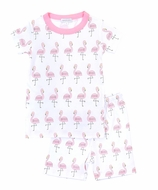 Magnolia Baby Little Girls Pink Flamingo Short Pajamas