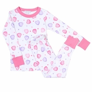 Magnolia Baby Little Girls Pink Valentine Hearts Lil' Sweetheart Pajamas