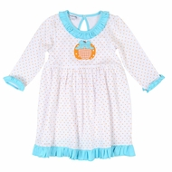 Magnolia Baby Little Girls Sweetest Pumpkin Applique Dress