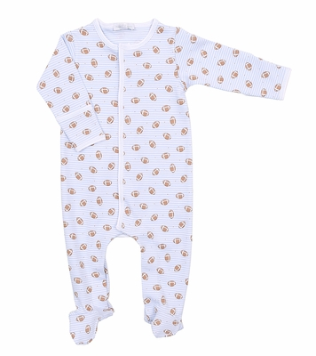 Magnolia Baby Boys Love Football Printed Footie - Blue