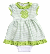 Magnolia Baby Girls Green Lucky Shamrock St. Patrick's Day Dress Set