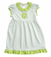 Magnolia Baby Little Girls Green Lucky Shamrock St. Patrick's Day Dress