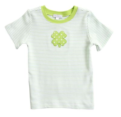 Magnolia Baby Little Boys Green Lucky Shamrock St. Patrick's Day T-Shirt