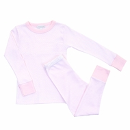 Magnolia Baby Little Girls Pink Maddy and Michael's Classics Long Pajamas