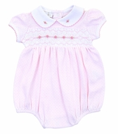 Magnolia Baby Girls Pink Maddy and Michael's Classics Smocked Bubble