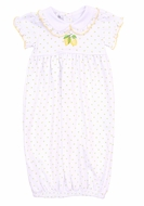 Magnolia Baby Girls Yellow Make Lemonade Gown