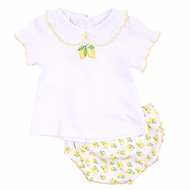 Magnolia Baby Girls Yellow Make Lemonade Bloomers Set
