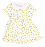 Magnolia Baby Girls Yellow Make Lemonade Printed Dress Set