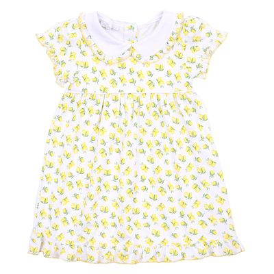 Magnolia Baby Little Girls Yellow Make Lemonade Printed Dress