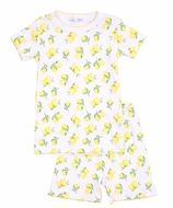 Magnolia Baby Little Girls Yellow Make Lemonade Short Pajamas