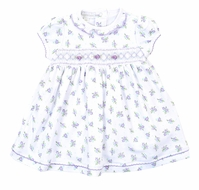 Magnolia Baby Girls Lavender Melanie's Garden Smocked Dress