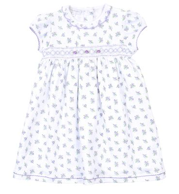 Magnolia Baby Little Girls Lavender Melanie's Garden Smocked Dress