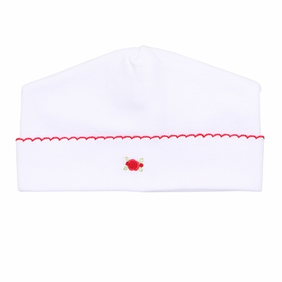 Magnolia Baby Girls Noelle's Classics Embroidered White Hat