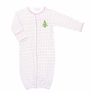 Magnolia Baby Boys / Girls Red / Green Dots O Christmas Tree Converter Gown