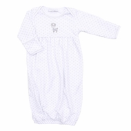 Magnolia Baby Boys / Girls Oh Deer! Reindeer Embroidered Gown - Silver