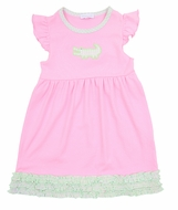 Magnolia Baby Little Girls Oh Snap! Applique Alligator Pink Dress
