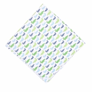 Magnolia Baby Boys Oh Snap! Green / Blue Alligators Print Swaddle Blanket