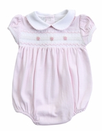 Magnolia Baby Girls Paige and Porter's Classics Smocked Collared Bubble - Pink Check