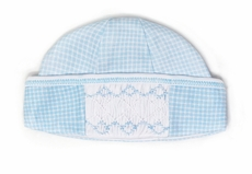 Magnolia Baby Boys Paige and Porter's Classics Smocked Hat - Blue Check