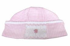 Magnolia Baby Girls Paige and Porter's Classics Smocked Hat - Pink Check