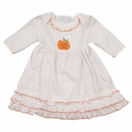 Magnolia Baby Girls Peek a Boo Halloween Pumpkin Applique Dress Set