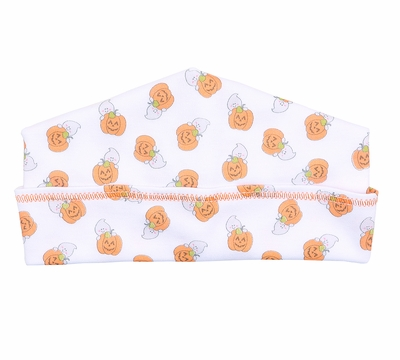 Magnolia Baby Girls / Boys Orange Peek a Boo Halloween Pumpkins Hat