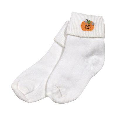 Magnolia Baby Girls / Boys Peek a Boo Halloween Pumpkin Socks