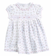 Magnolia Baby Toddler Girls Pink Floral Piper's Garden Smocked Dress