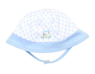 Magnolia Baby Boys Putting Around Blue Golf Sun Hat