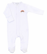 Magnolia Baby Boys / Girls White Rainbow Footie
