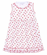Magnolia Baby Red Cherry on Top Printed Sleeveless Dress