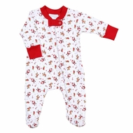 Magnolia Baby Red Christmas Cuties Printed Zipped Footie
