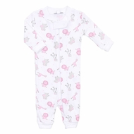 Magnolia Baby / Toddler Girls Safari Animals Zipped Pajamas - Pink