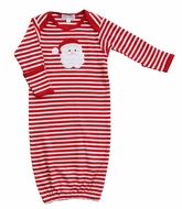 Magnolia Baby Boys / Girls Red Stripe Santa Applique Gown