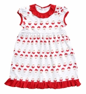 Magnolia Baby Little Girls Red Santa Faces Dress