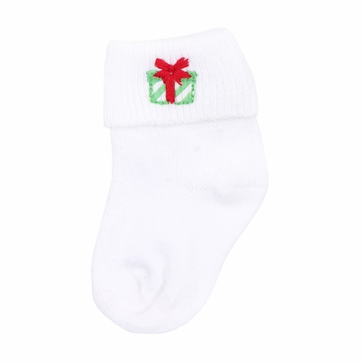 Magnolia Baby Santa's Helper Embroidered Sock - Christmas Gift