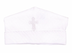 Magnolia Baby Girls / Boys White So Blessed Embroidered Cross Hat