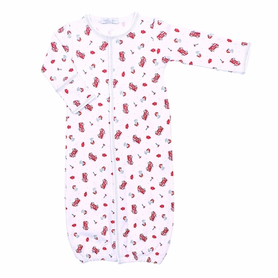 Magnolia Baby Boys Sound the Alarm Firetrucks Printed Converter Gown