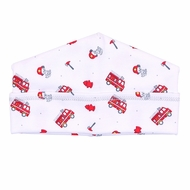 Magnolia Baby Boys Sound the Alarm Red Firetrucks Printed Hat