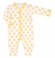 Magnolia Baby Boys / Girls Yellow Sunshine Printed Playsuit