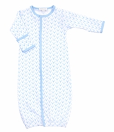 Magnolia Baby Boys Sweet Little Buck Printed Converter Gown - Blue