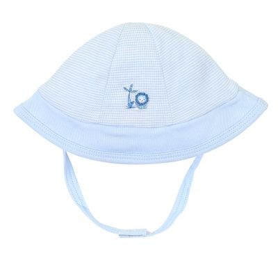 Magnolia Baby Boys Blue Sweet Safari Sun Hat