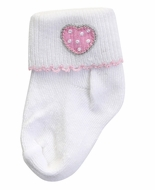 Magnolia Baby Girls Sweet Pink Valentine Heart Socks