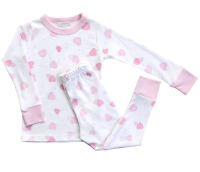 Magnolia Baby Little Girls Pink Sweet Valentine Hearts Pajamas