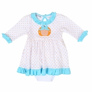 Magnolia Baby Sweetest Pumpkin Applique Long Sleeve Dress Set