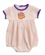 Magnolia Baby Boys Orange / Purple Tigers Paw Bubble - Boy