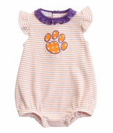 Magnolia Baby Girls Orange / Purple Tigers Paw Bubble - Girl