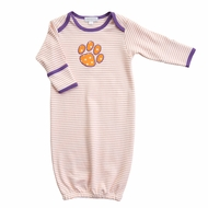 Magnolia Baby Boys / Girls Orange Tigers Paw Gown