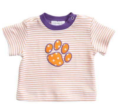 Magnolia Baby Orange / Purple Tigers Paw T-Shirt