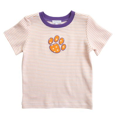 Magnolia Baby Little Boys Orange / Purple Tigers Paw T-Shirt